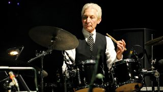 Charlie Watts performing live at the Humphrey Lyttelton Celebration Concert at the Hammersmith Apollo, London on 25 April 2010