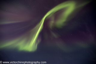 Victor Chinn captured this aurora photo on Sept. 12, 2014, near Cleary Summit, Alaska.