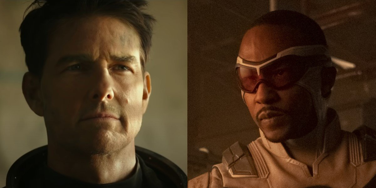 Tom cruise top gun maverick anthony mackie in the falcon and the winter soldier