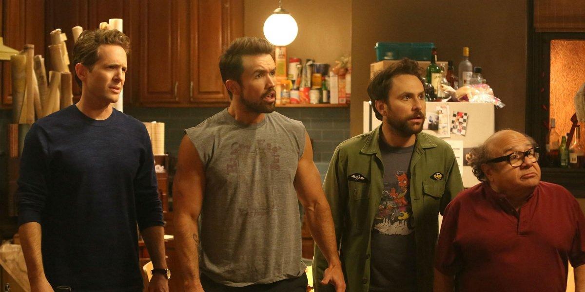 Glenn Howerton, Rob McElhenney, Danny DeVito, and Charlie Day in It's Always Sunny in Philadelphia