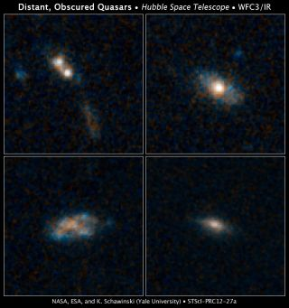 hubble quasars snacking