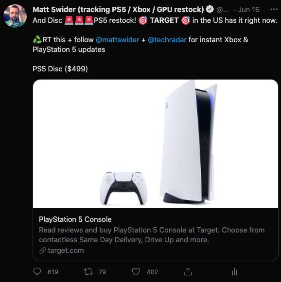 PS5 restock Target