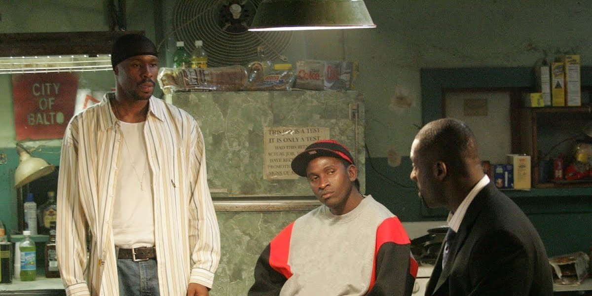 From left to right Wood Harris, Anwan Glover, and Idris Elba