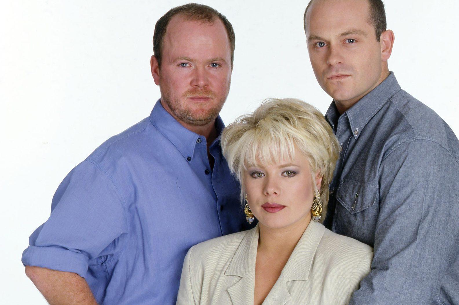 EastEnders Phil Mitchell Sharon Mitchell y Grant Mitchell en 1994