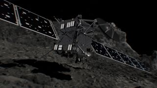 The European Space Agency's Rosetta spacecraft crash-landed on its target Comet 67P, shown in this artist's illustration, on Sept. 30, 2016, ending a historic 12-year mission to explore and land on a comet.