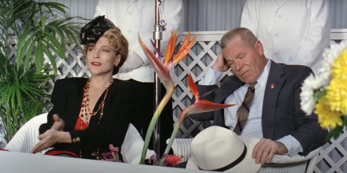 Margaret Whitton and Charles Cyphers in Major League