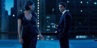 Maggie Gyllenhaal and Christian Bale in The Dark Knight