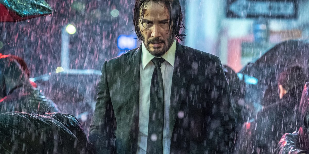 John Wick 3 in the rain