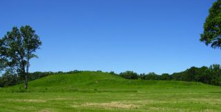 A bird-shaped mound at Poverty Point in Louisiana, nominated as a UNESCO World Heritage Site.