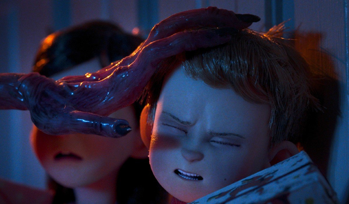 Slimy alien hand touching grossed out kid Love Death and Robots Netflix