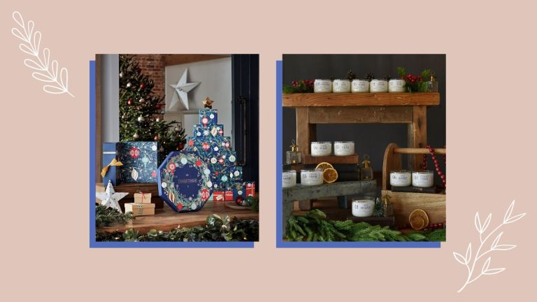 Two of the best candle advent calendars from Yankee Candle and Etsy shown side by side