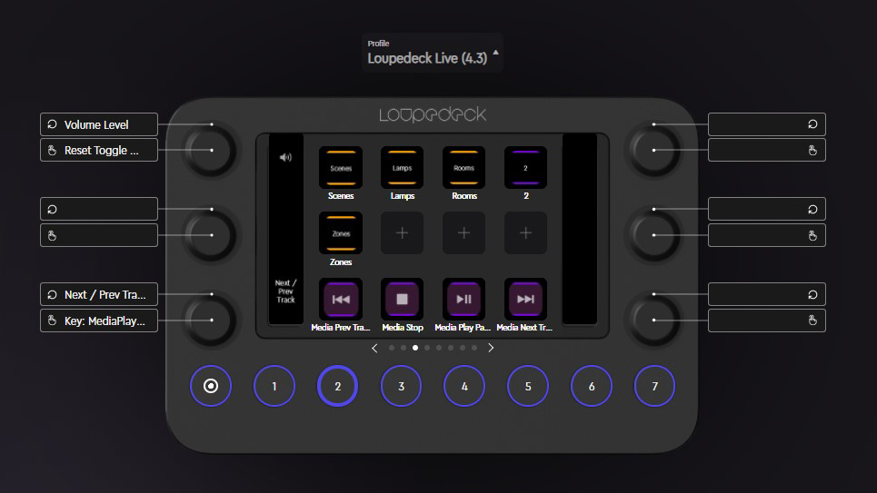 Loupedeck Live simplified streaming UI