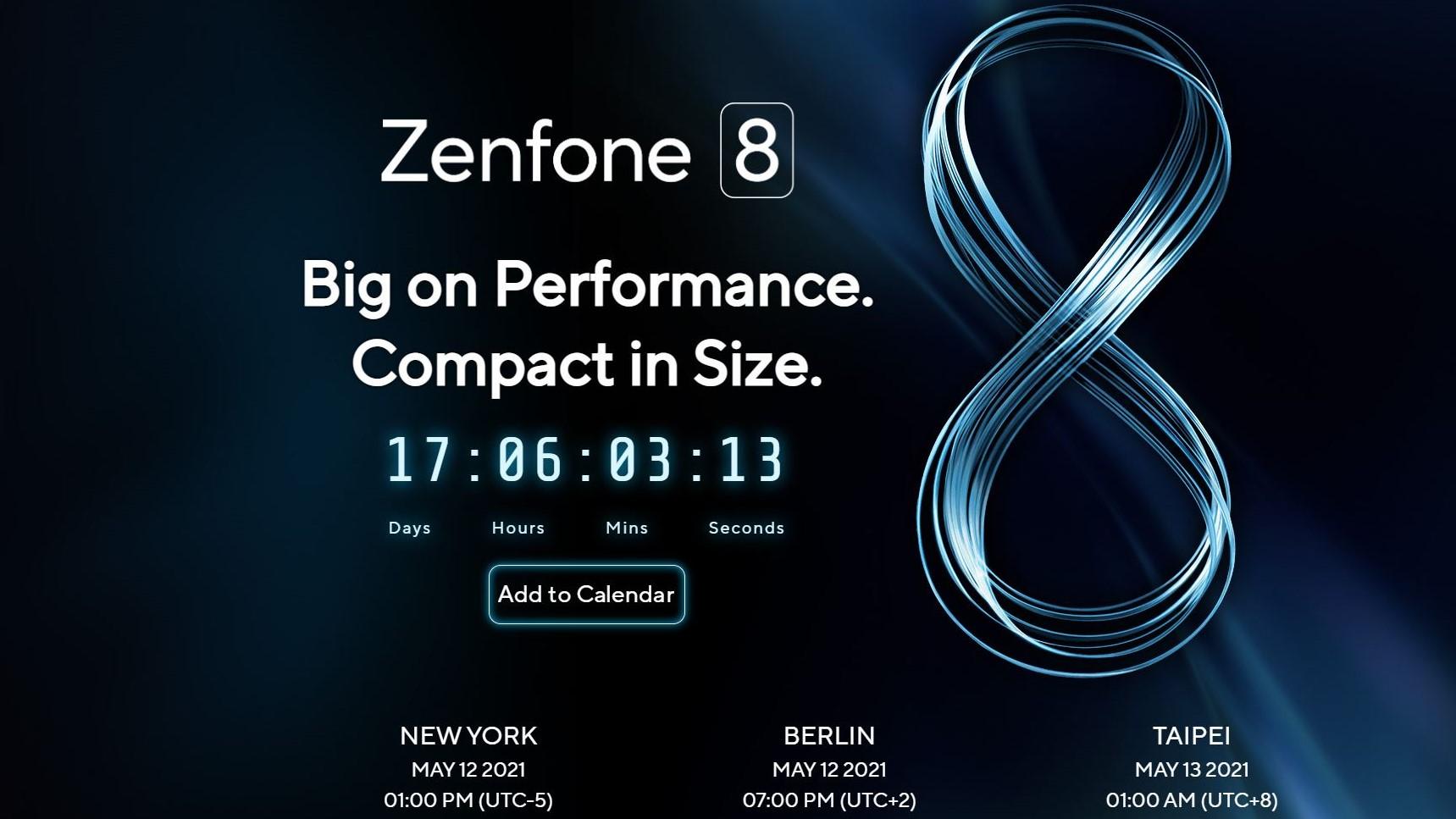 Приглашение на мероприятие Asus Zenfone 8