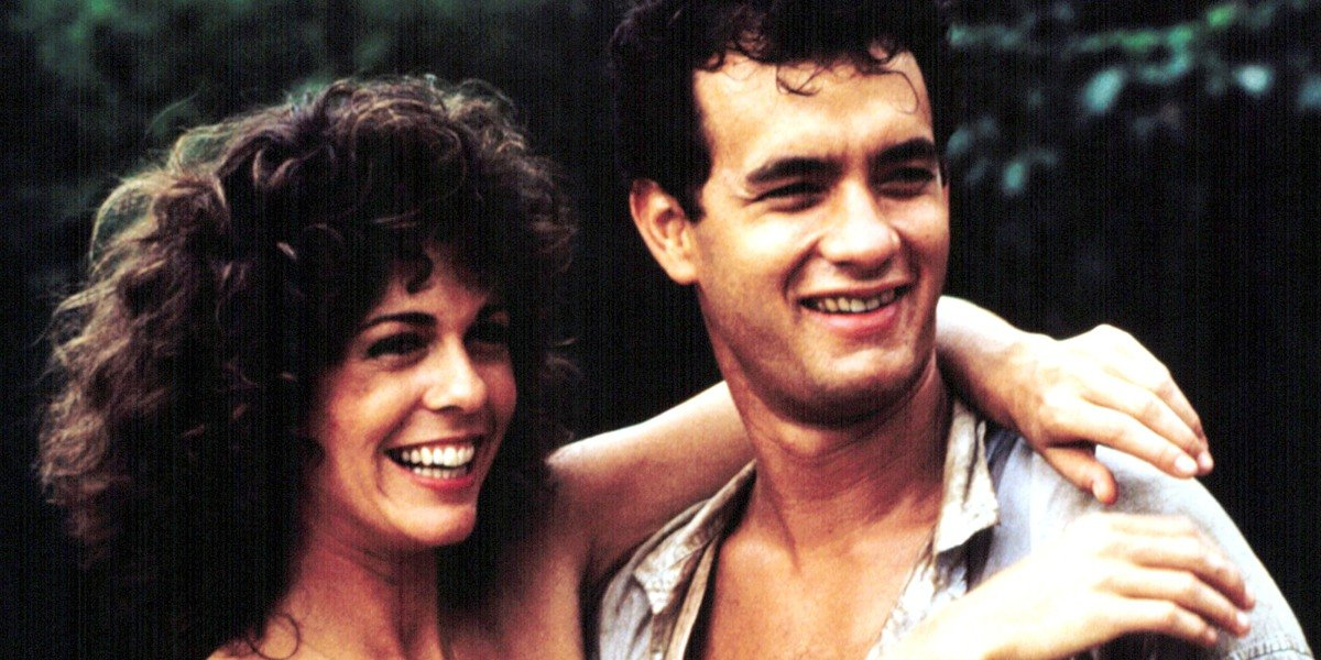 Tom Hanks and Rita Wilson in Volunteers (1985)
