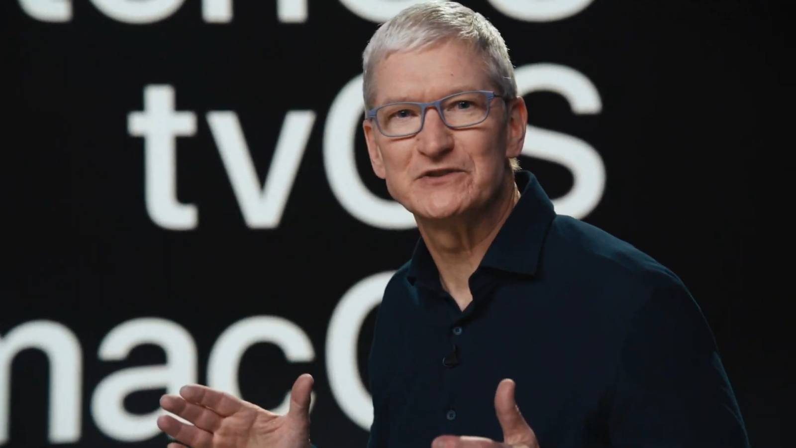 Apple CEO Tim Cook at WWDC 2020