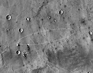 Here's where the Mars InSight lander is supposed to make touchdown on the Red Planet.