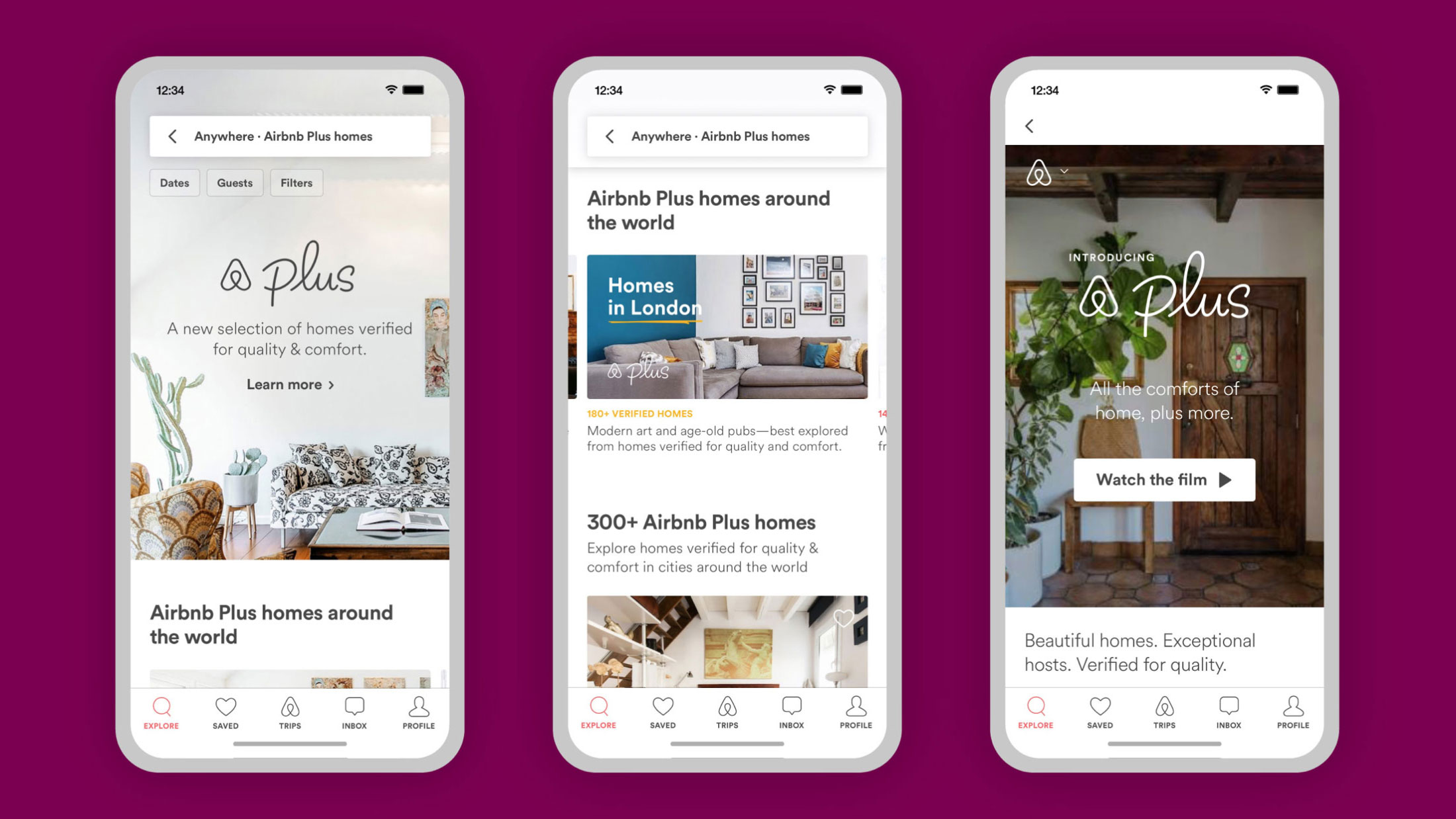 Koto airbnb mobile screens