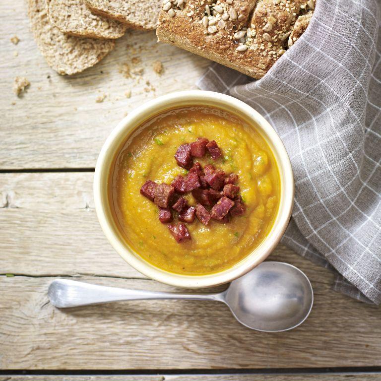 Sweet Potato Chilli Chorizo Soup