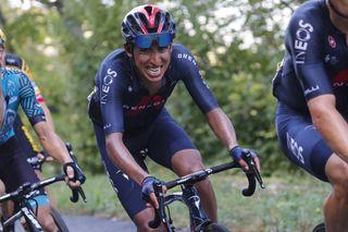 Egan Bernal fights the pain at the 20202 Tour de France