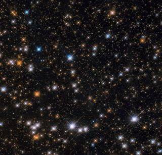 A striking view of the Wild Duck Cluster, Messier 11, taken by the Hubble Space Telescope.