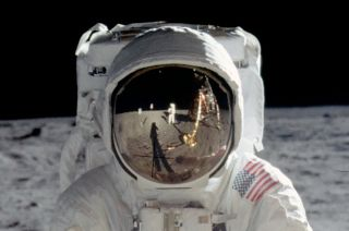 The iconic image of moonwalker Buzz Aldrin's helmet visor will serve as the design for the back of a new U.S. coin celebrating the 50th anniversary of Apollo 11, if Congress approves.