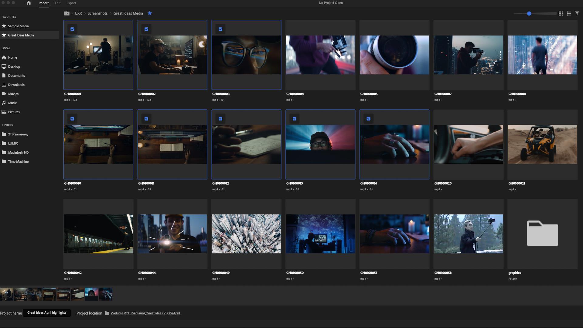 Adobe Premiere Pro UI Revamp