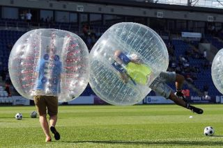 loopyball, bubble soccer, sports, weird sports