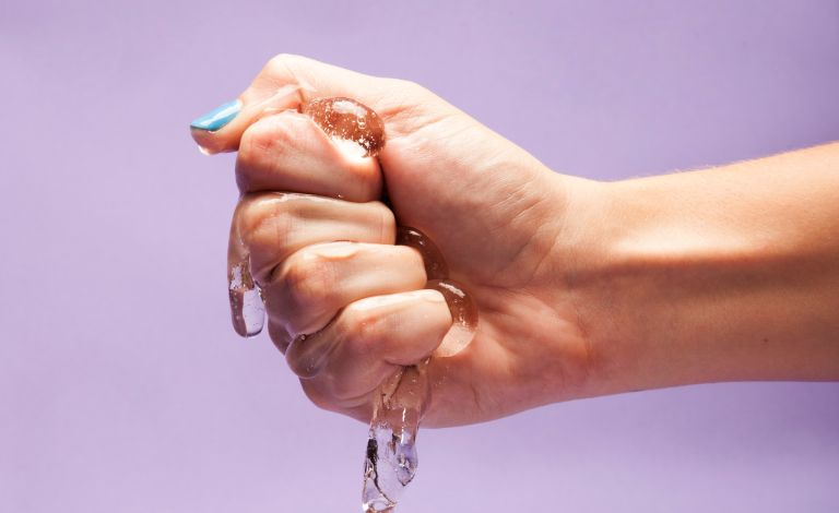 Is coconut oil good for lube? Close Up Of Women Squeezing Lube