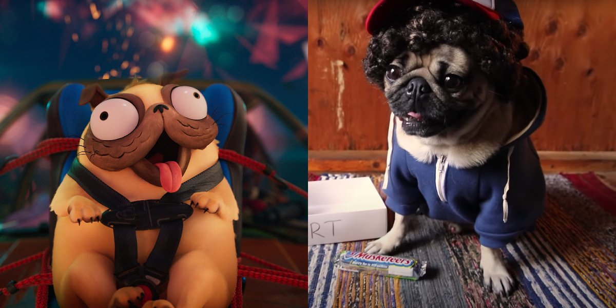 Monchi in The Mitchells vs. the Machines; Doug the Pug in a Stranger Things parody