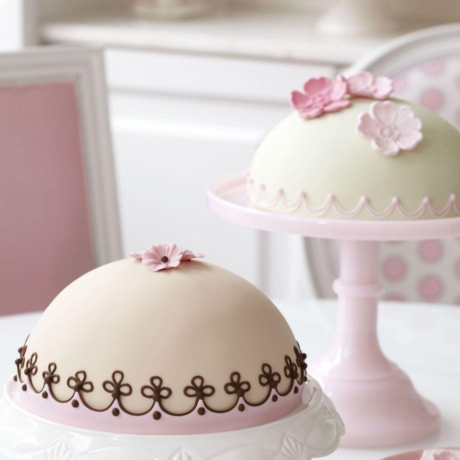 Raspberry and Rose Dome Cake Recipe