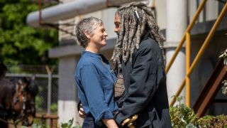 Carol and Ezekiel in a shot from The Walking Dead season 9