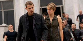 Theo James and Shailene Woodley in Insurgent