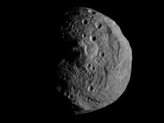 NASA's Dawn spacecraft obtained this image with its framing camera on July 17, 2011. It was taken from a distance of about 9,500 miles (15,000 kilometers) away from the protoplanet Vesta. Each pixel in the image corresponds to roughly 0.88 miles (1.4 kilo