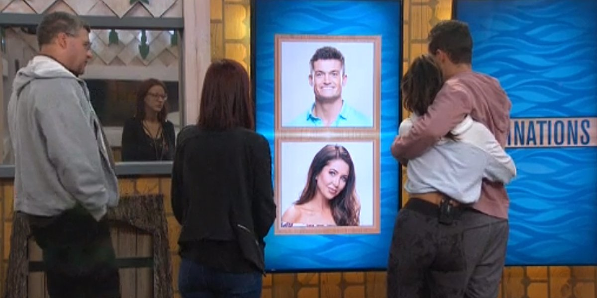 Big Brother 21 Jackson Holly on the nomination wall CBS