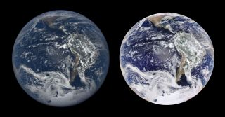 Earth views side by side