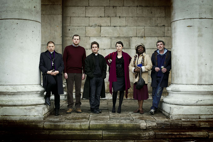 Tom Hollander revs up clergy in new sitcom (VIDEO)