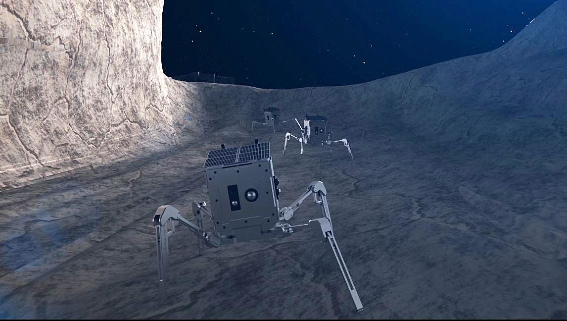 Spiders on the Moon: 'Walking' Robots Will Explore Lunar Crevices ...
