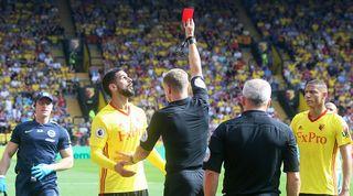 Premier League red card