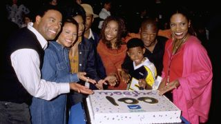 Brandy as Moesha celebrates the 100th episode of the show on UPN