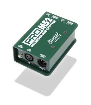 RadialIntroduces theRadial ProMS2 Single Channel Mic Splitter