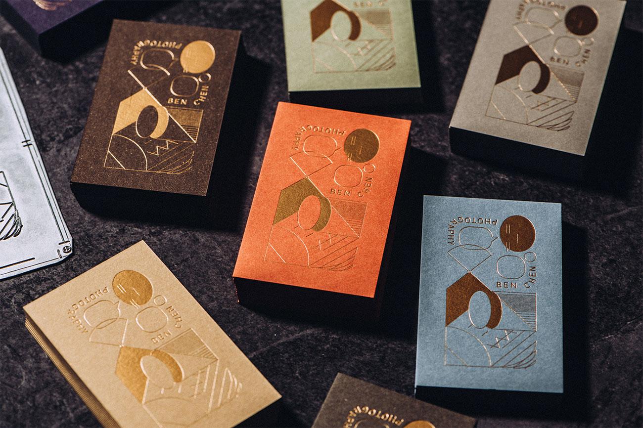 letterpress business cards: Ben Chen
