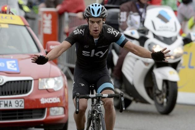 Richie Porte wins the stage, Paris-Nice 2013, stage five
