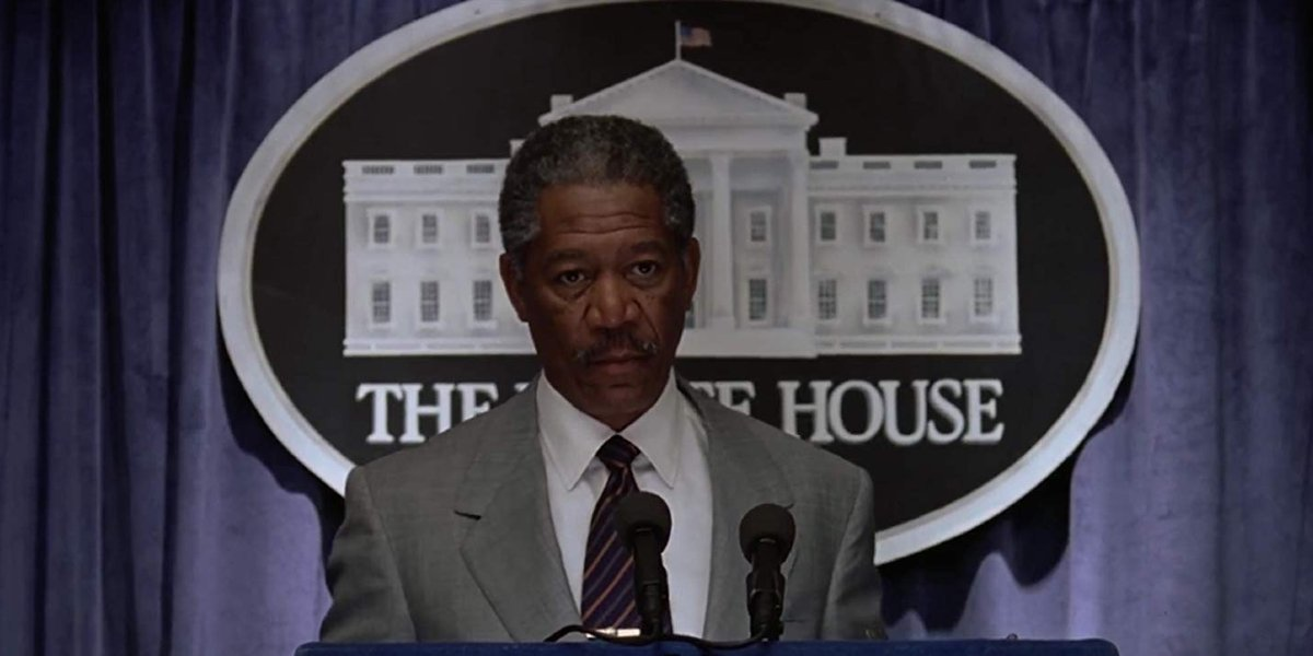 Deep Impact Morgan Freeman addresses the nation