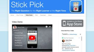 Screenshot of Stick Pick app showing Video Demo screen