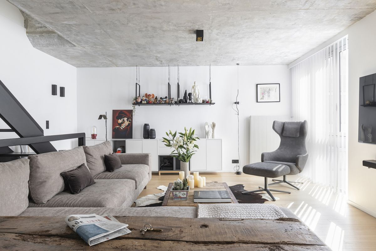 Explore a raw, Brutalist apartment in Paris