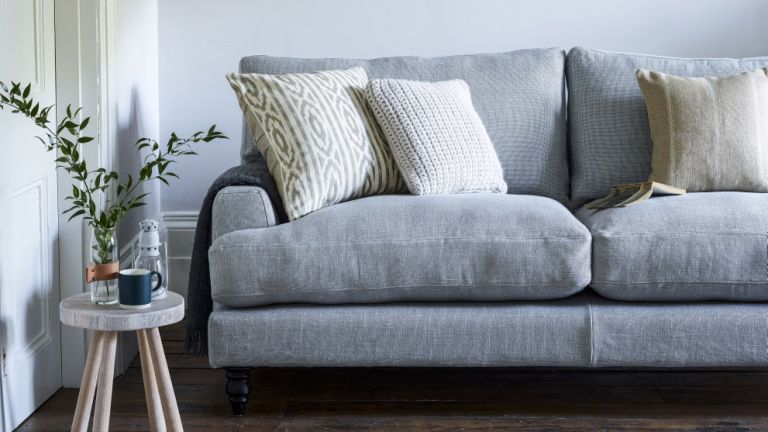 Isla Three Seater In Silver Sofa