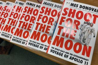 """""""Shoot for the Moon"""" by James Donovan focuses on """"first-person, behind-the-scenes details"""" of the Apollo 11 mission."""