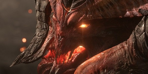 Diablo looking very angry