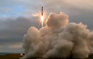 Rocket Lab's first Electron rocket launches from New Zealand on May 25, 2017.