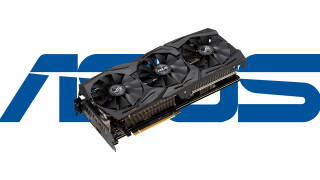 An RTX GPU in front of the Asus logo